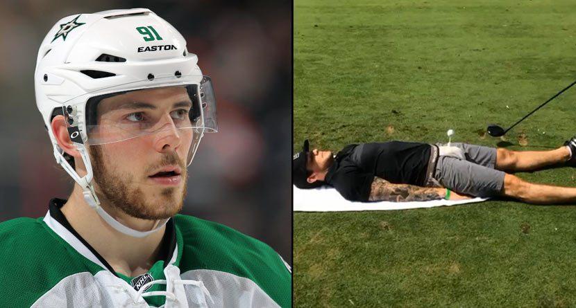 Hockey Star Tyler Seguin Allows Tee Shot Off His Nether Region