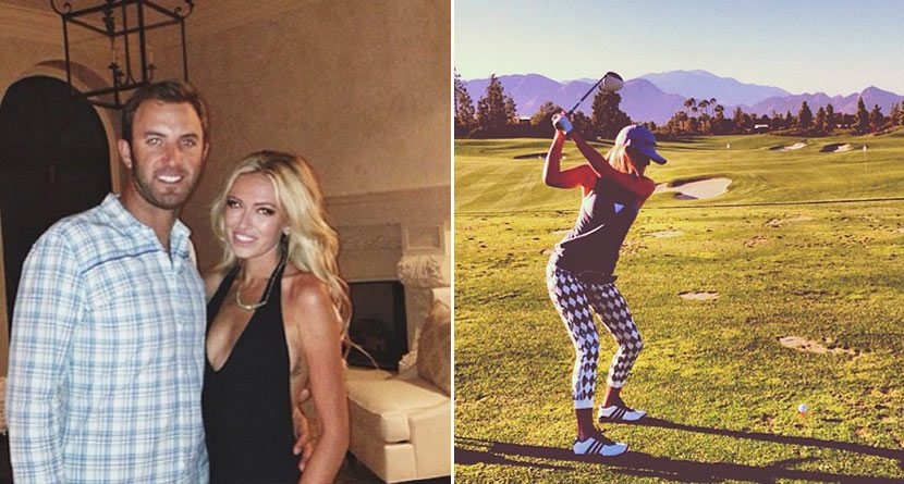 Dustin Johnson Still Playing Golf, Caddying for Paulina Gretzky