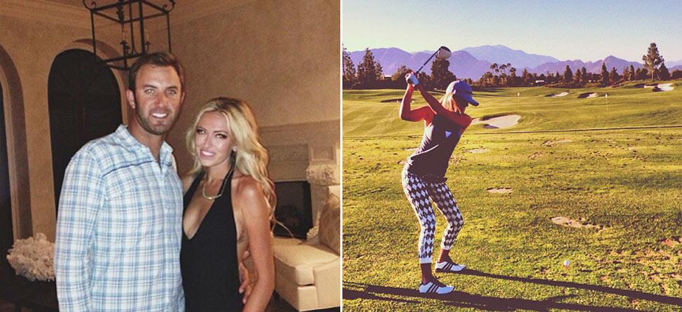 Dustin Johnson Still Playing Golf, Caddying for Paulina Gretzky