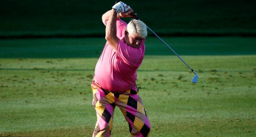 John Daly Hit Another Ball From Someone's Mouth