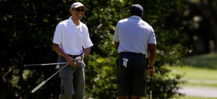 President Obama Hits Links with Ray Allen & Back9's Ahmad Rashad