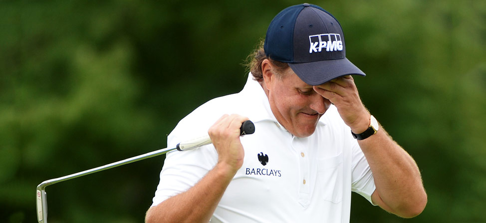 Phil Mickelson Hits From Hospitality Tent…Again