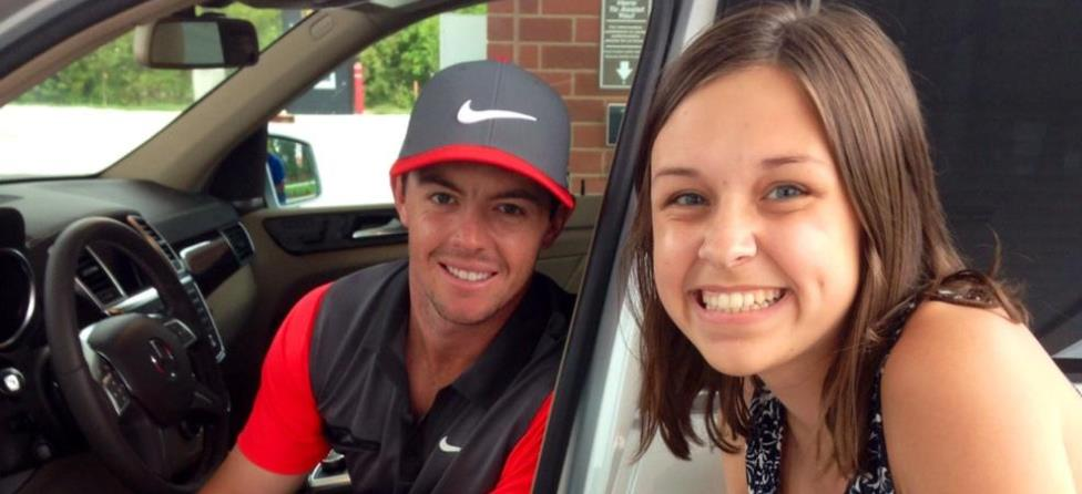 Rory McIlroy Makes Girl's Day with Photo at Gas Station