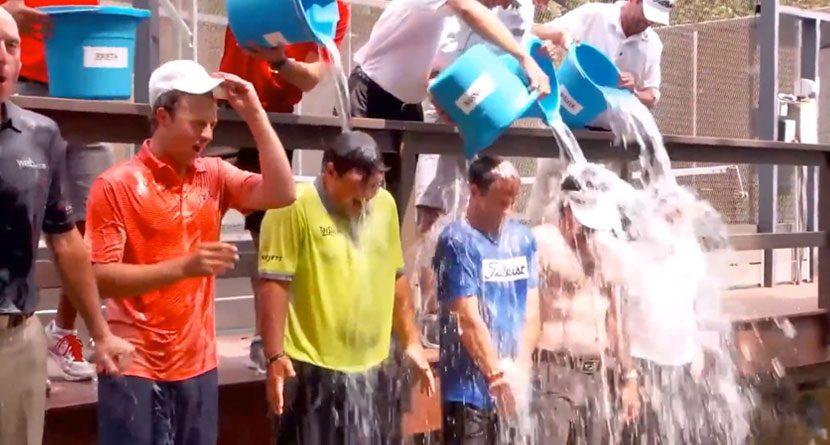U.S. Ryder Cup Team Takes Ice Bucket Challenge