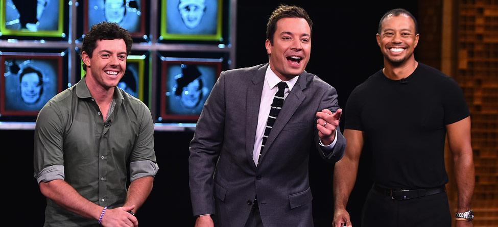 Tiger Woods, Rory McIlroy Battle Jimmy Fallon on 'Tonight Show'