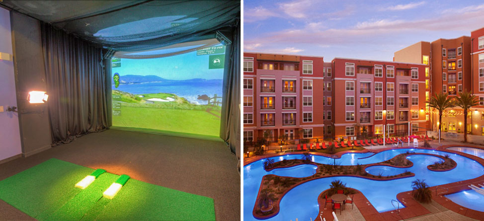 Classy: New College Apartment Has Golf Simulator, Lazy River