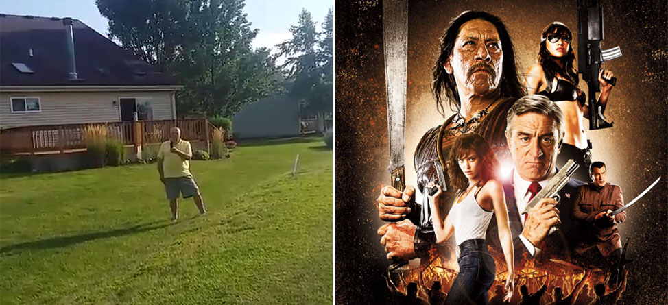 Man Wields Machete After Golf Ball Lands In His Yard