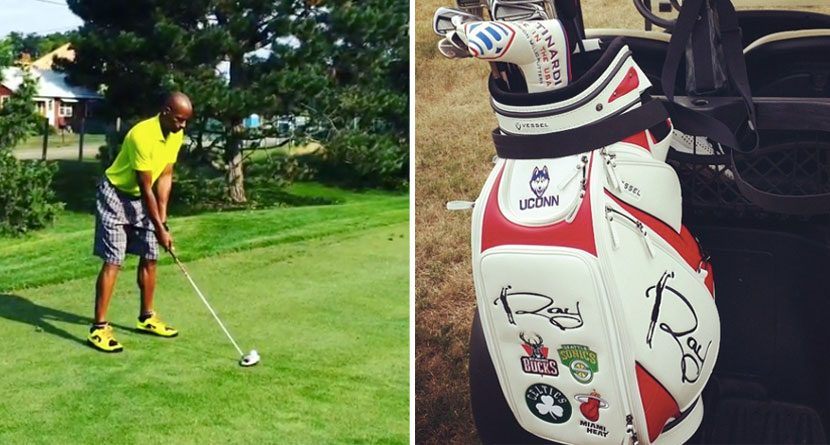 Ray Allen's Golf Bag is a Must-See