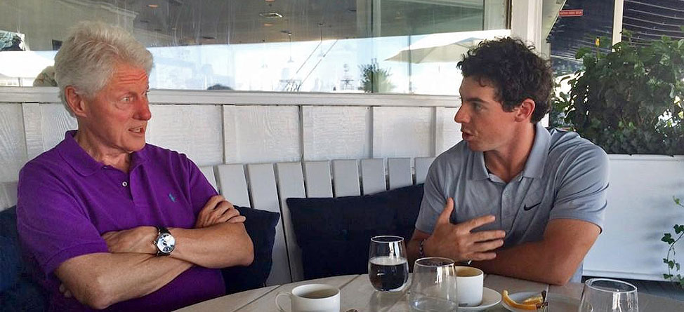 Rory McIlroy Breaks Bread With Bubba… Clinton That Is