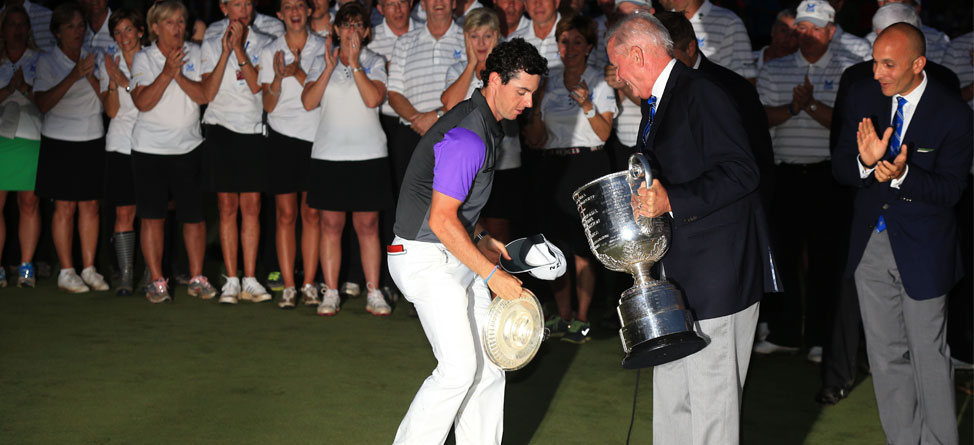 Rory McIlroy Saves Wanamaker Trophy With Catch of the Year