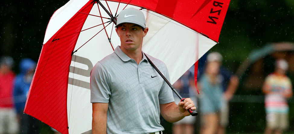 Round 2 Recap: Rory McIlroy Builds his Lead in the Rain