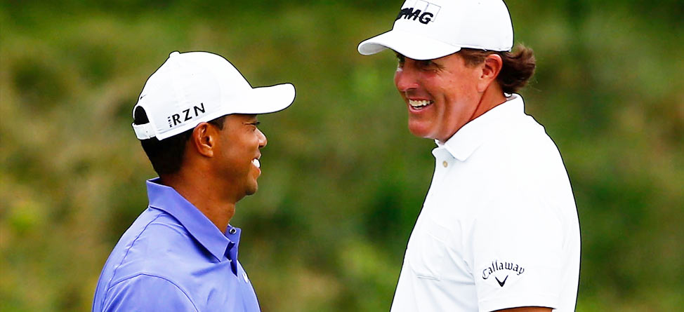 Woods, Mickelson Start With Mixed Results at PGA Championship