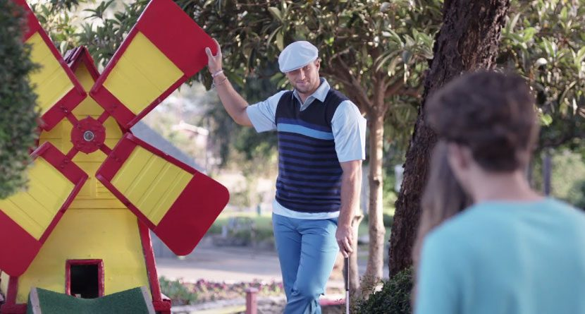 Tim Tebow Cheats At Mini Golf