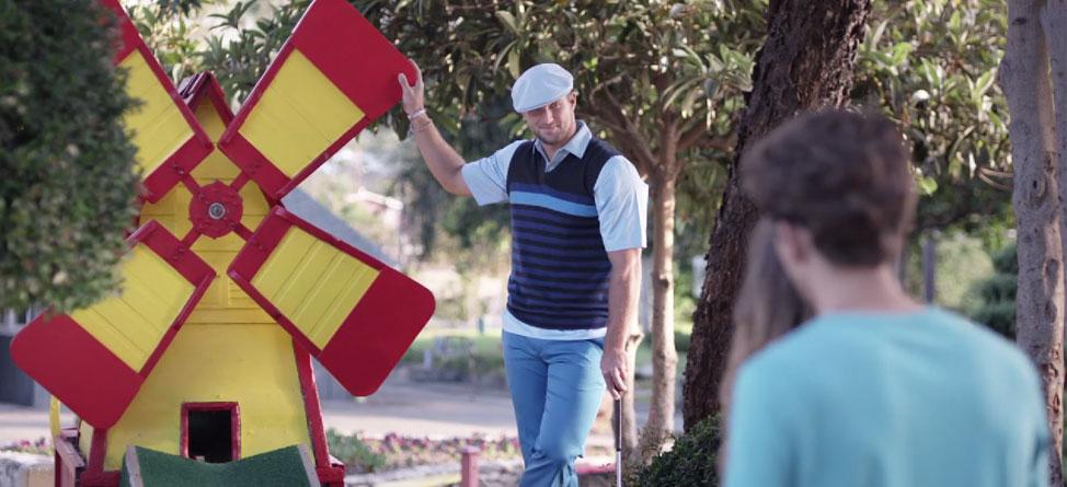 Tim Tebow Cheats At Mini Golf