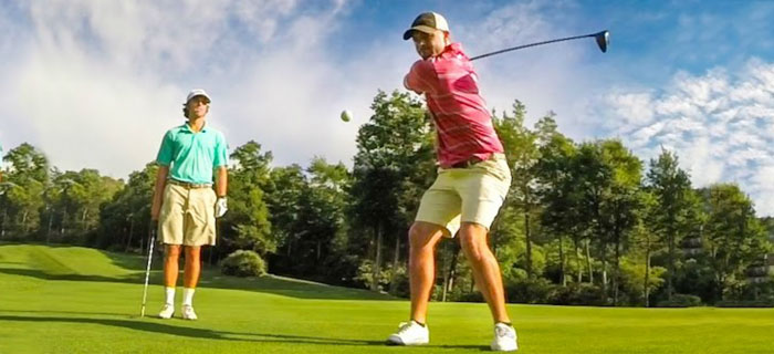 Great Golf Trick Shots With GoPro and The Bryan Bros