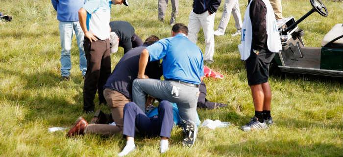 European Tour Player Hit In Head By Errant Golf Ball