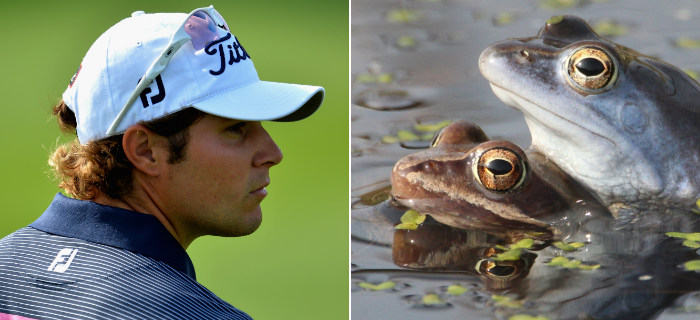 Peter Uihlein Surprised By Frog At European Tour Event