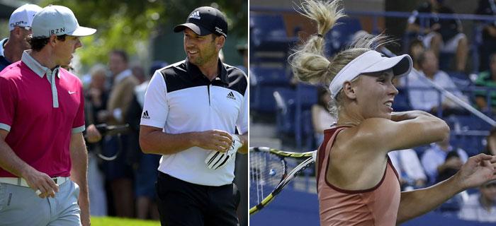 Were Rory and Sergio Making Fun of Caroline Wozniacki?