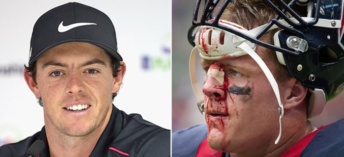 Rory McIlroy Thinks NFL Players Are Soft