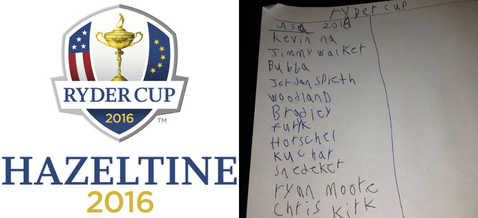 7-Year-Old Picks 2016 U.S. Ryder Cup Team; It's Really Not Bad
