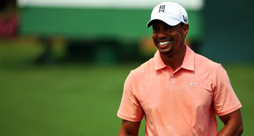 Heads Up! Tiger Plays With Fans On TPC Scottsdale's Famous 16th