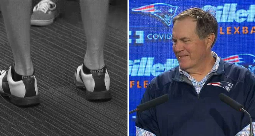 Bill Belichick Jabs Reporter For Wearing Golf Shoes