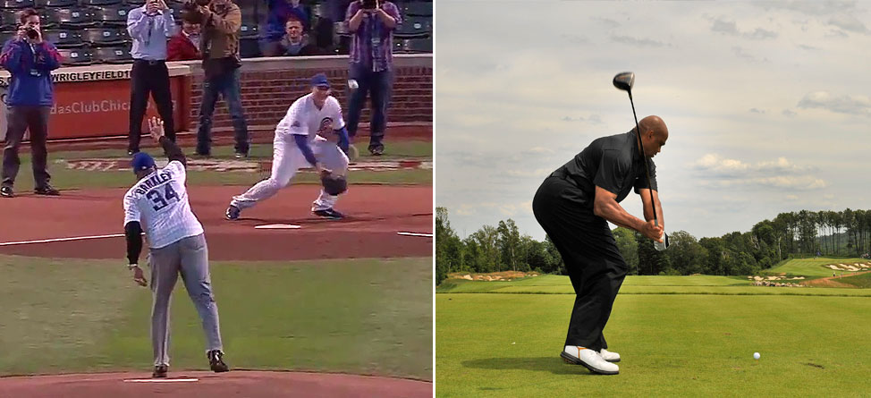 Charles Barkley's Turrible First Pitch Still Better Than His Golf Swing
