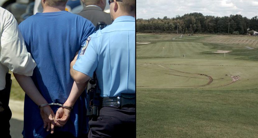 Scorned Lover Does Donuts On New York Golf Courses