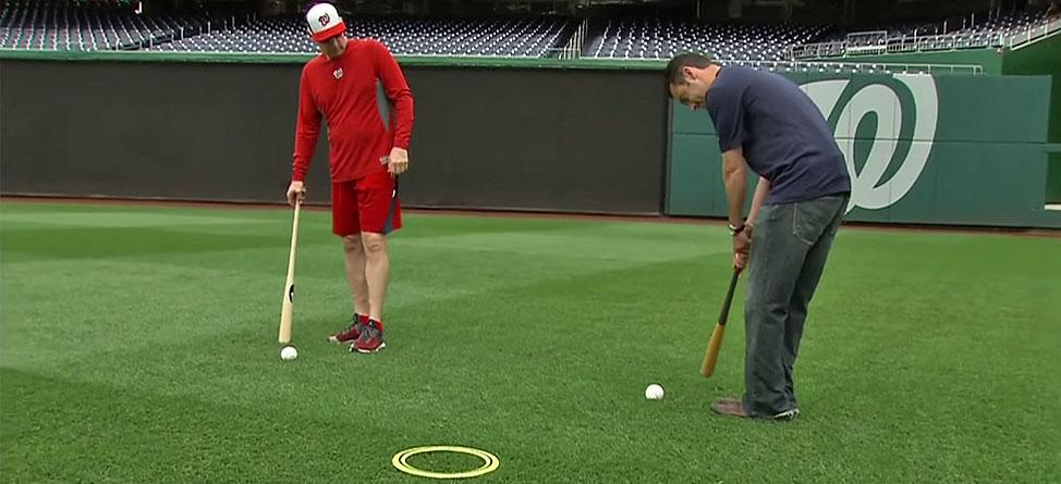 Baseball Meets Golf As Nationals Skipper Plays Fungo Golf