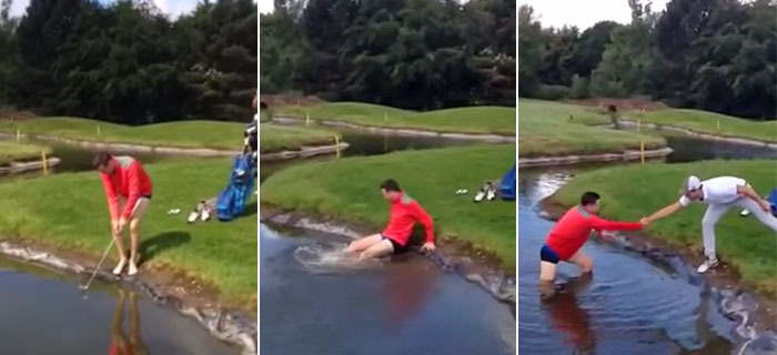 Pantless Golfer Falls Into Hazard, Hilarity Ensues