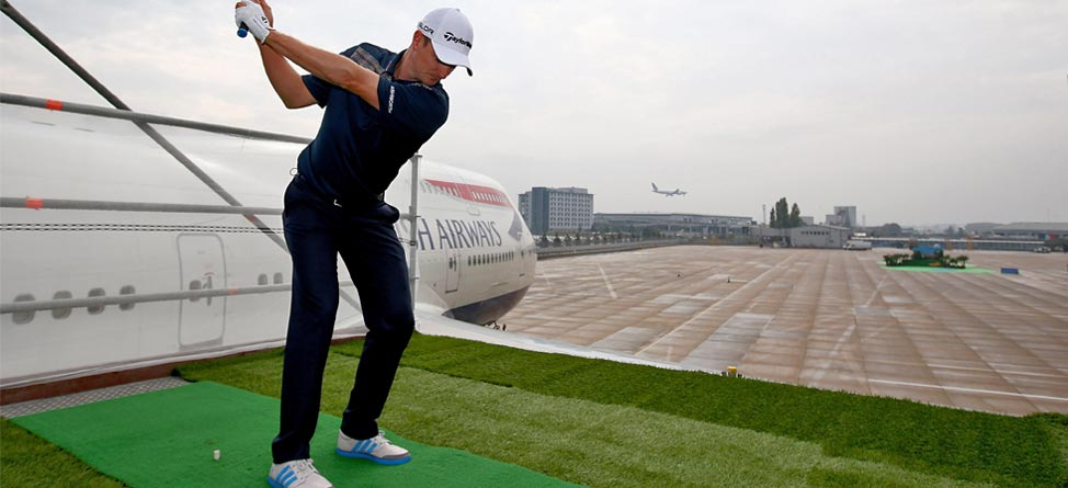 Wing Tips: Justin Rose Tees Off Atop A Boeing 747