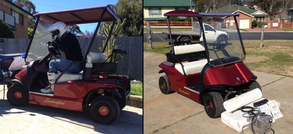 Wife Makes Man Sell Lamborghini Golf Cart