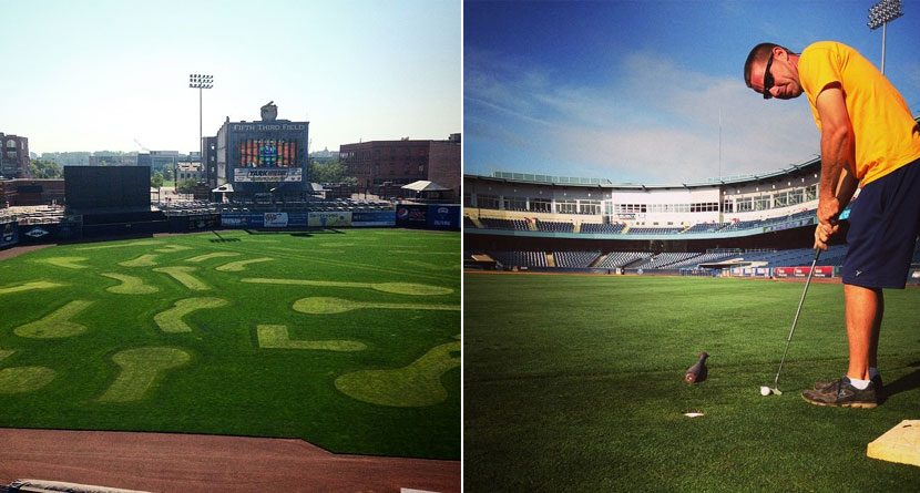 Ball Fore: Baseball Outfield Becomes Mini Golf Course