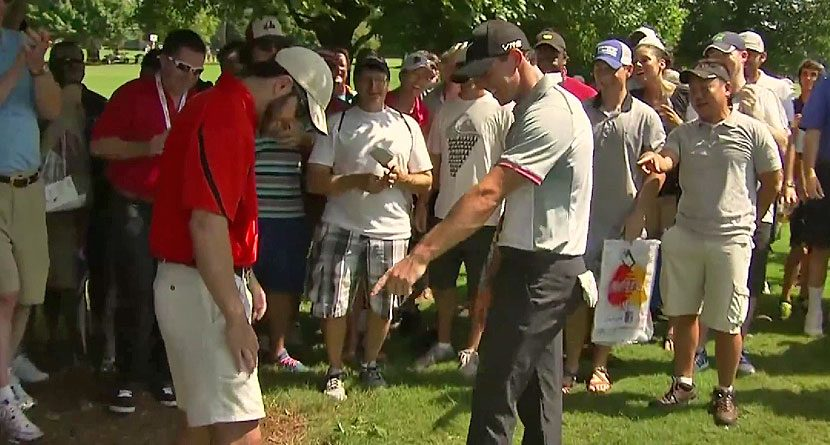 Rory McIlroy's Ball Lands In Fan's Pocket, Still Makes Par