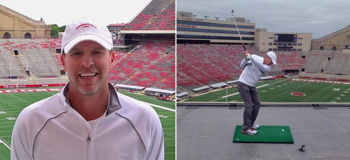 Steve Stricker To Tackle Tough Shot At Wisconsin Football Game