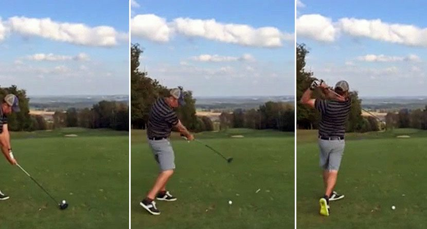 Teed Off: Somehow Golfer Drives Tee, Misses Ball