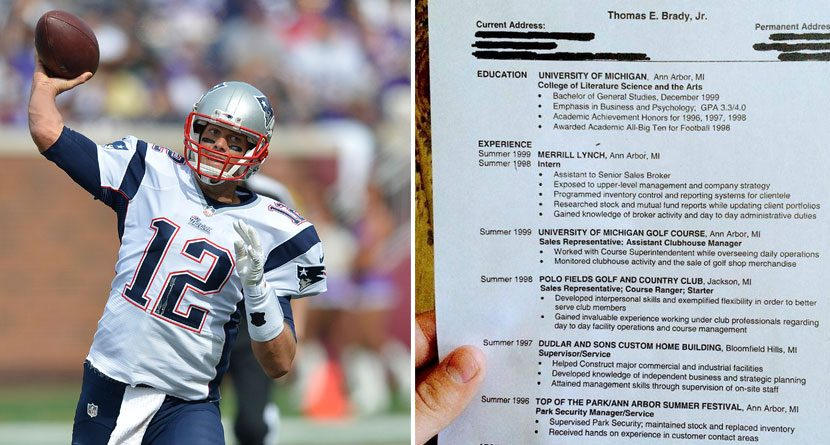 Help Wanted: Tom Brady's Resume Includes Golf Gigs