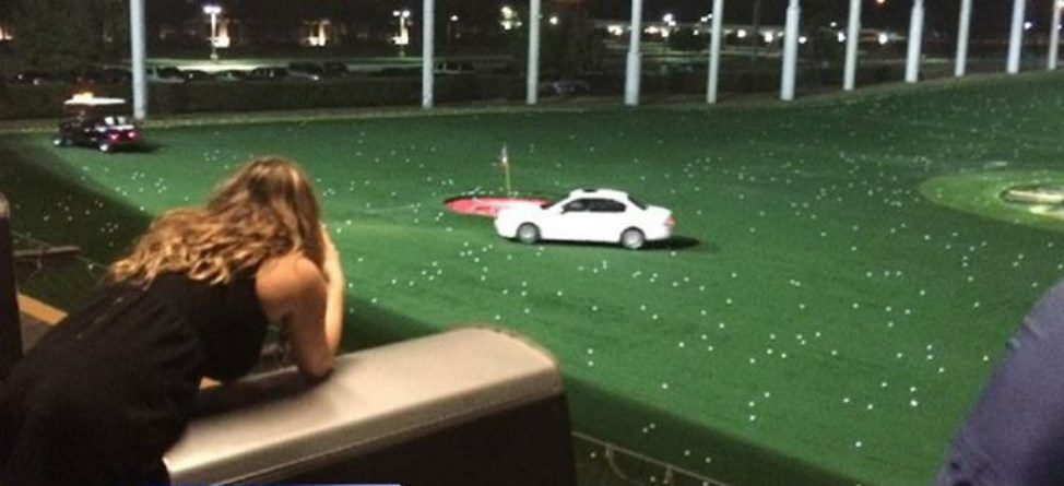 Driving Range: Car Gets Pelted At TopGolf in Houston