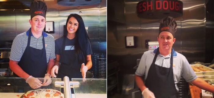 No Anchovies: Jason, Amanda Dufner Make Pizza For Charity