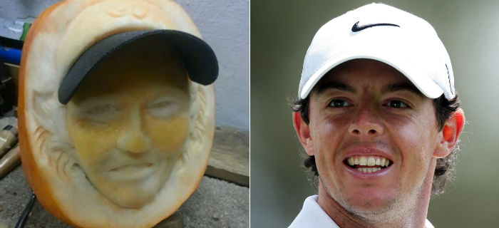 The World's No. 1 Pumpkin Carving: Rory McIlroy's Face