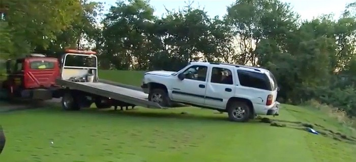 SUV Tears Through Golf Course, Causes $40K In Damage