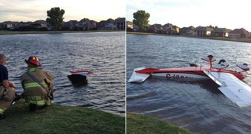 Airplane Finds Water Hazard In Emergency Landing