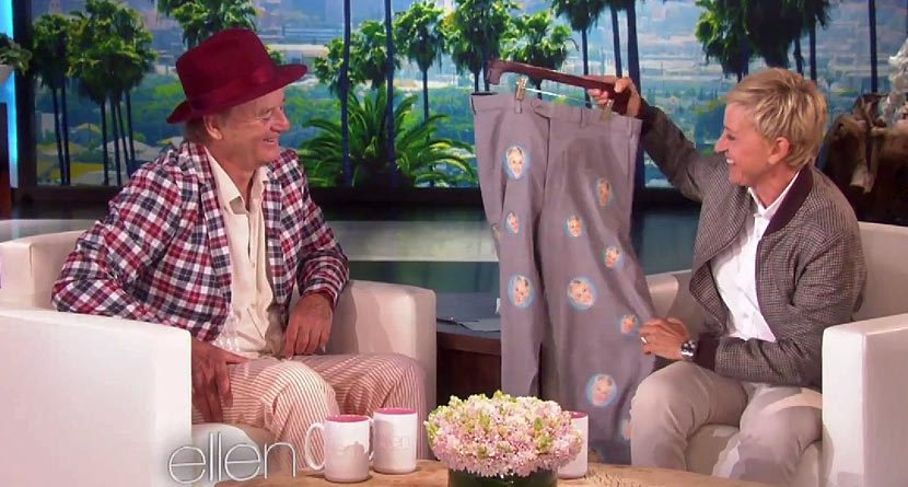 Face Time: Bill Murray Gets Hilarious Pair Of Pants From Ellen