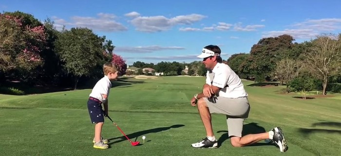 Bubba Watson Hangs Out With 3-Year-Old Phenom