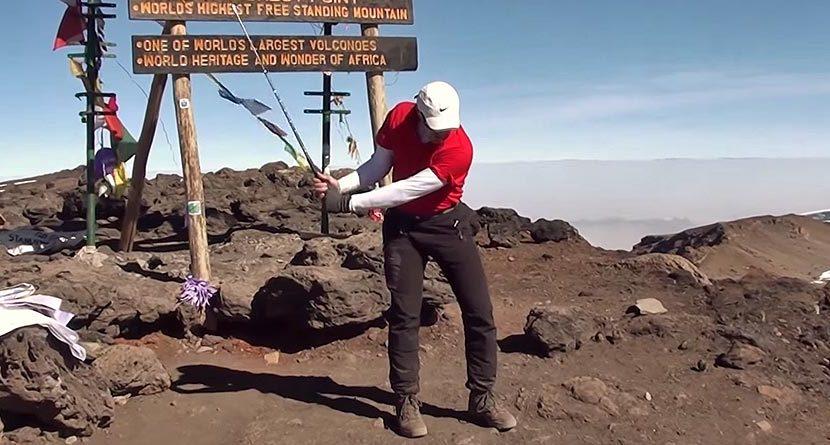 Peak Performance: Man Hits Shot Off Top Of Mount Kilimanjaro