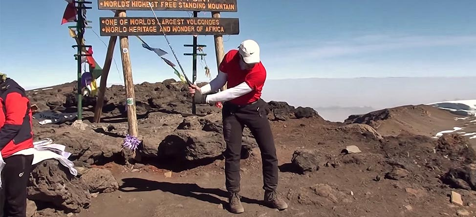 Peak Performance: Man Hits Shot Off Top Of Mount Kilimanjaro