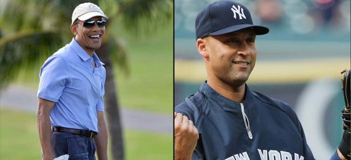 Derek Jeter, President Obama Golf At Exclusive Shadow Creek in Las Vegas