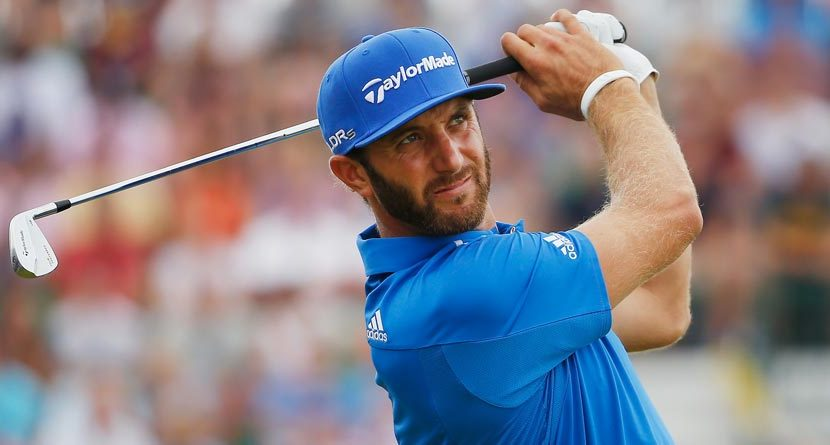 Welcome Back: Dustin Johnson Holes Out From 159 Yards In 1st Competitive Round Since July