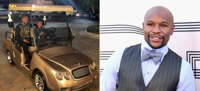 Floyd Mayweather Buys Son Gold Bentley Golf Cart