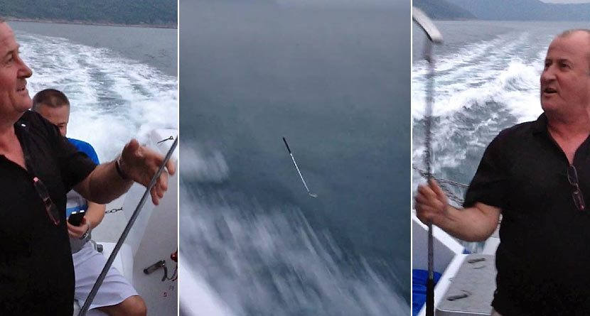 Way Overboard: Golfer Tosses Clubs Off Boat After Bad Round